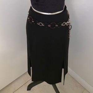 Valentino Black Pencil Skirt